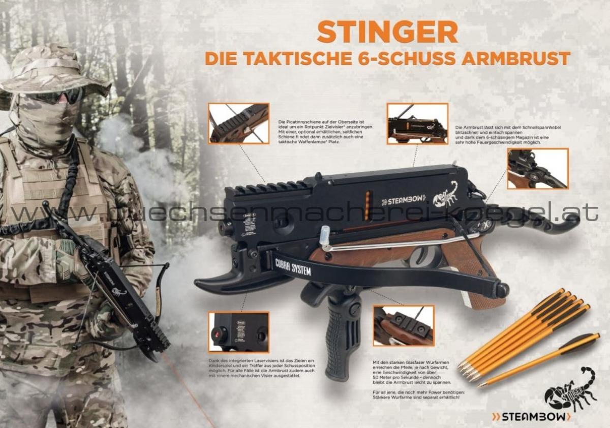 Steambow Stinger 6 Schuss Armbrust mit Laser